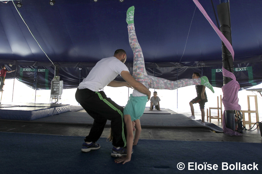 The Palestinian Circus School's Summer camp June 2015 in Birzeit (Photo: Eloise Bollack for The Media Line)