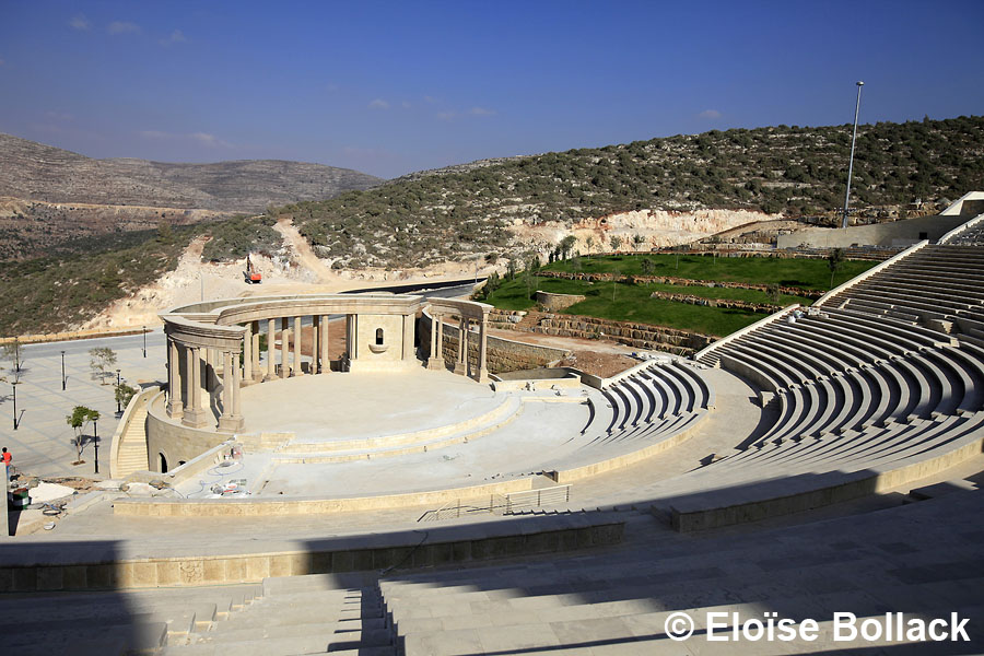 The outdoor amphitheater of Rawabi is the largest in the Middle East